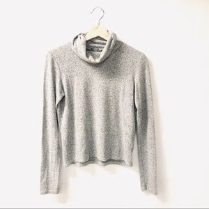 Aerie Small turtleneck gray crop sweater